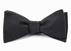BOW TIES - SOLID WOOL - METALLIC Grey