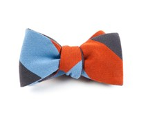 Bow Ties - BIG WOOL STRIPE - BURNT ORANGE