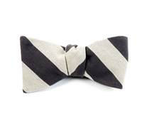 Bow Ties - COLLEGE STRIPE WOOL - Light Taupe