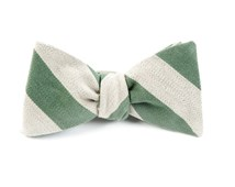Bow Ties - COLLEGE STRIPE WOOL - MOSS