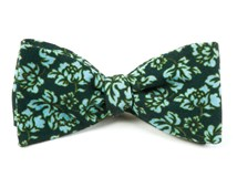 Bow Ties - SERPENTINE FLORAL - DEEP GREEN TEAL