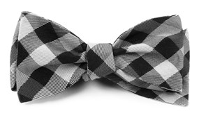 Bow Ties - GINGHAM FUSION - BLACK