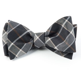 Charcoal Catalyst Plaid bow ties