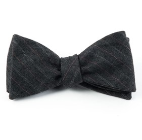 Wells Stripe Silver Bow Ties