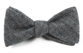 Bow Ties - WINTER HERRINGBONE - BLACK