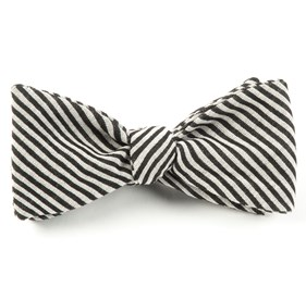 Black Draft Stripe bow ties