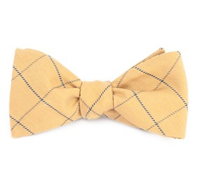 Mustard Goalpost Pane bow ties