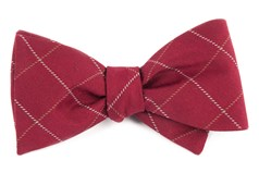 BOW TIES - GOALPOST PANE - BURGUNDY