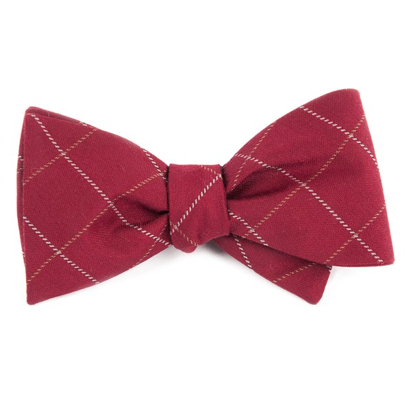 Burgundy Goalpost Pane Bow Tie