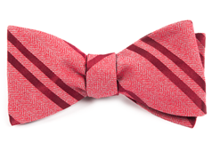 Bow Ties - Wool Path Stripe - Red