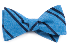 Bow Ties - Wool Path Stripe - Blue