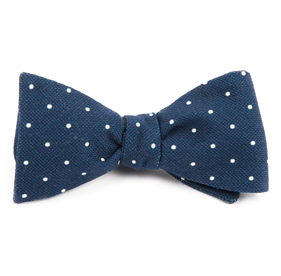 Navy Primary Dot bow ties