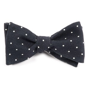 primary dot black bow ties