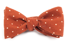 Bow Ties - Primary Dot - Burnt Orange