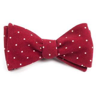 Primary Dot Red Bow Tie