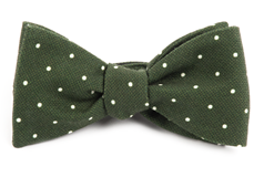 Bow Ties - Primary Dot - Dark Clover Green