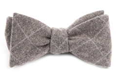 Bow Ties - Printed Flannel Pane - Charcoal