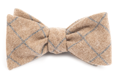 Bow Ties - Printed Flannel Pane - Mustard