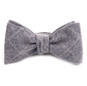 Eggplant Printed Flannel Pane bow ties