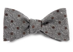 Bow Ties - Revolve Dots - Brown