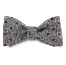 Brown Revolve Dots bow ties