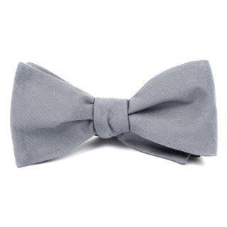 solid wool light grey bow ties