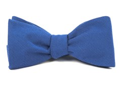BOW TIES - SOLID WOOL - CLASSIC BLUE
