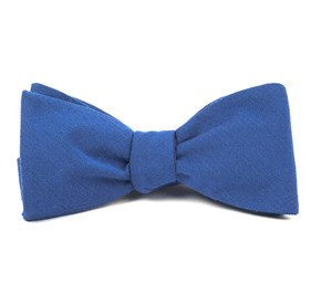 Solid Wool Classic Blue Bow Ties