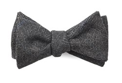 Bow Ties - Academia Herringbone - Grey