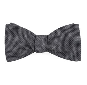 Observation Solid Grey Bow Ties