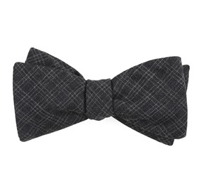 Charcoal Pbl Plaid bow ties