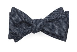 Bow Ties - Blue Ridge Herringbone - Midnight Navy