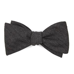 brewhouse herringbone brown bow ties