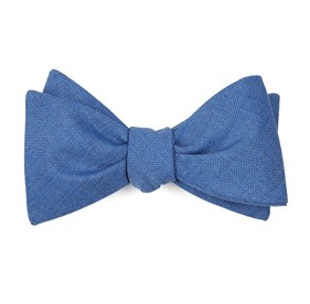 Sandeman Solid Light Cornflower Bow Ties