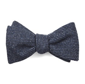 Classic Blue Wright Solid bow ties