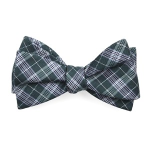 emerson plaid hunter green bow ties
