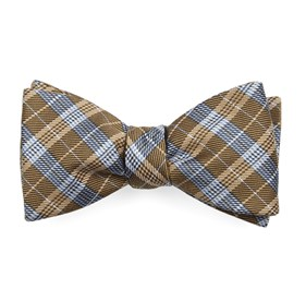 Mustard Emerson Plaid bow ties