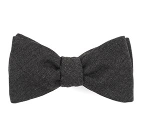 Swansea Solid Charcoal Bow Ties