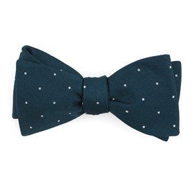 Teal Dotted Report bow ties