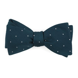 dotted report teal bow ties