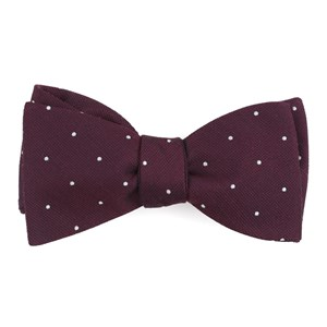 dotted report wine bow ties