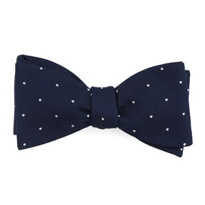 dotted report navy bow ties