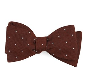 Dotted Report Burnt Orange Bow Ties