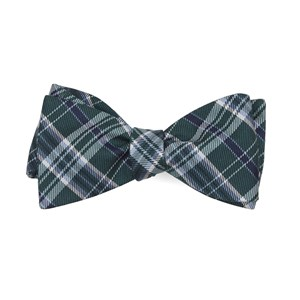 andersen plaid hunter green bow ties