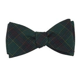 Hunter Green Pittsfield Plaid bow ties
