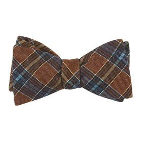 Burnt Orange Pittsfield Plaid bow ties