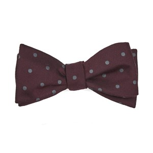 dotted hitch burgundy bow ties