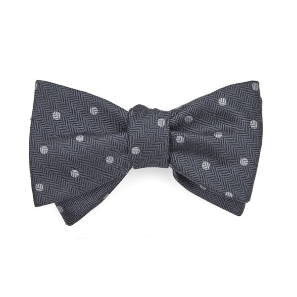Grey Dotted Hitch Bow Tie