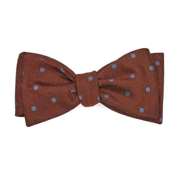Orange Dotted Hitch Bow Tie