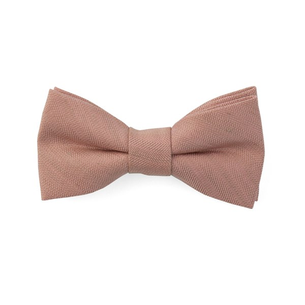 Rose Quartz Bhldn Linen Row Bow Tie